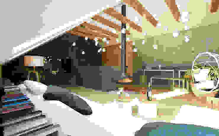 LUXURIOUS STYLE – WILLA W JAROSZOWEJ WOLI 180 m2 Nowoczesny salon od TISSU Architecture Nowoczesny