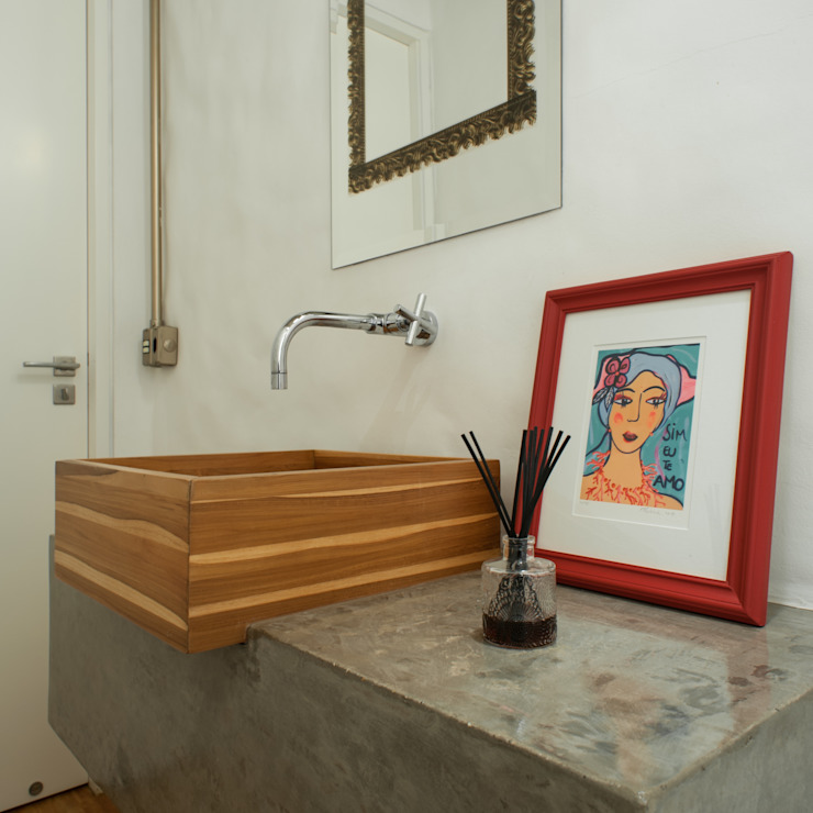 PM Arquitetura Industrial style bathroom