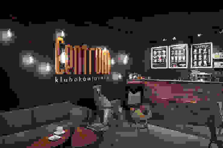 CENTRUM - klubokawiarnia od Sikora Wnetrza Industrialny