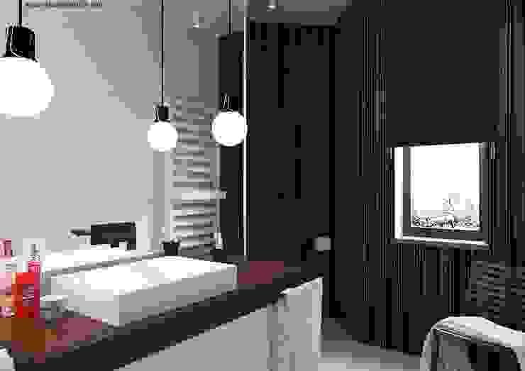 Sikora Wnetrza Minimalist bathroom
