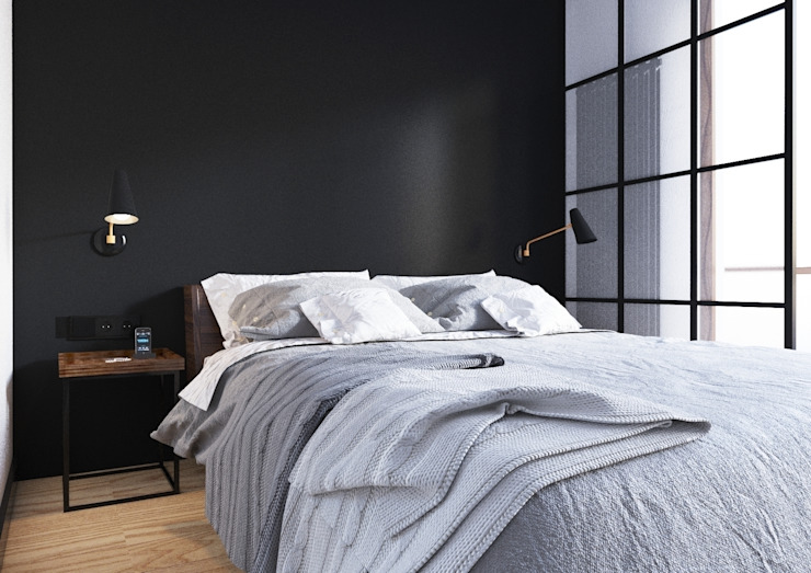 Sikora Wnetrza Industrial style bedroom