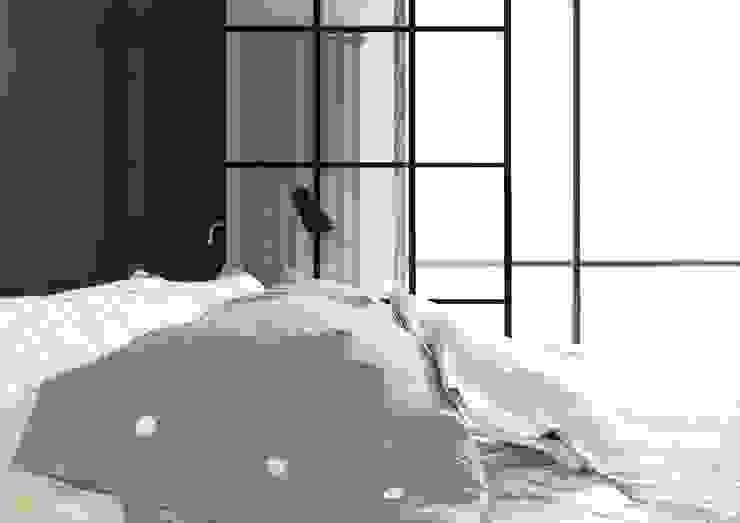 APARTAMENT GARNIZON W GDAŃSKU Minimalistyczna sypialnia od Sikora Wnetrza Minimalistyczny