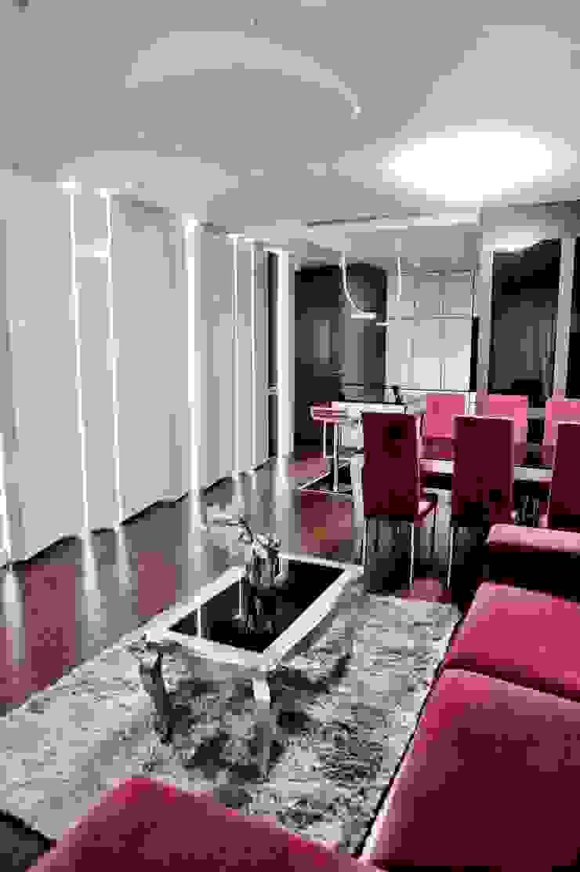 APARTAMENT FUSION Eklektyczny salon od Sikora Wnetrza Eklektyczny