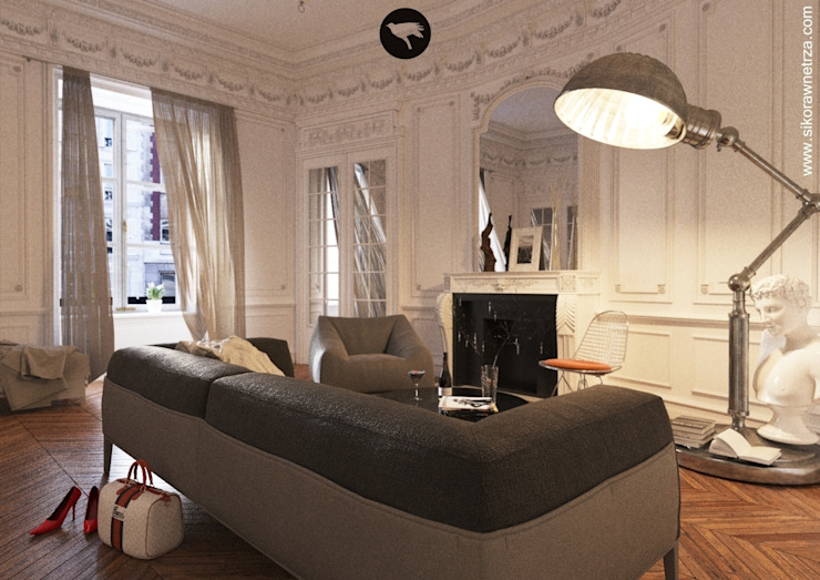 Classic style living room by Sikora Wnetrza Classic
