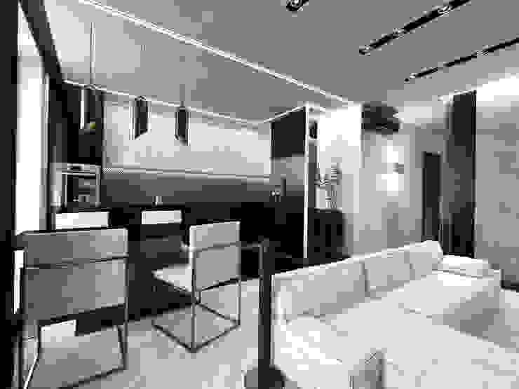 Кухня Кухня в стиле минимализм от Архитектурное бюро 'АрхСлон' Минимализм