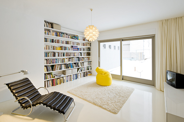 SEHW Architektur GmbH의  서재 & 사무실, 모던