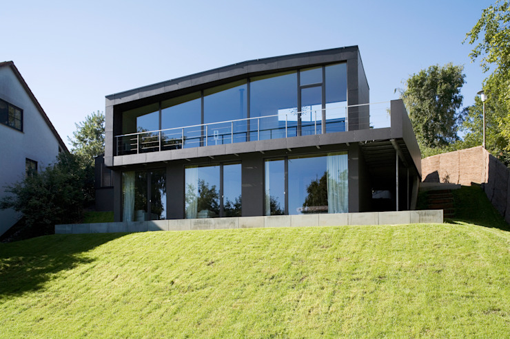 Gartenansicht Markus Gentner Architekten Moderne Häuser