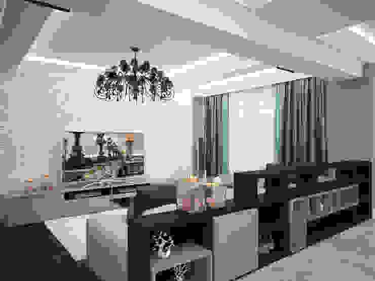 Проект квартиры в центре г. Владивостока Гостиные в эклектичном стиле от LD design Эклектичный