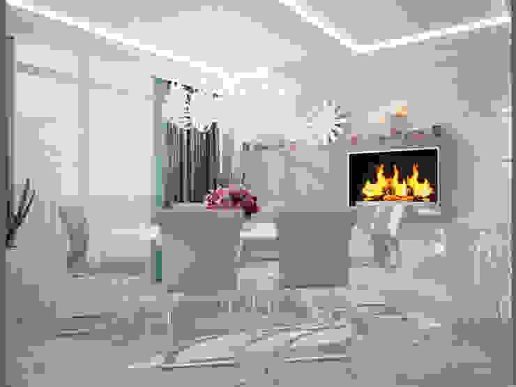 Проект квартиры в центре г. Владивостока Столовая комната в эклектичном стиле от LD design Эклектичный