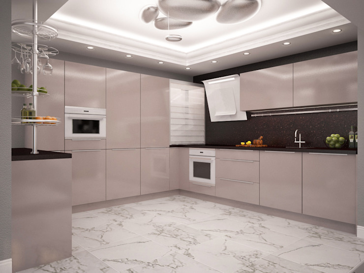 Проект квартиры в центре г. Владивостока Кухни в эклектичном стиле от LD design Эклектичный