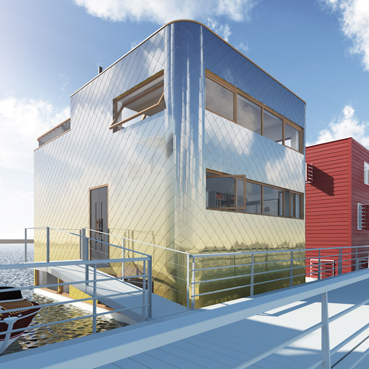 Vis Moderne huizen van M&M Watervilla Modern