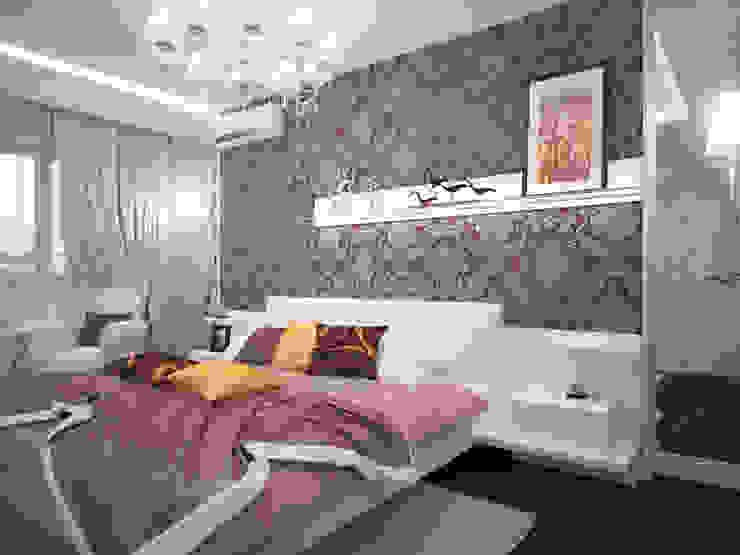 Проект квартиры в центре г. Владивостока Спальня в эклектичном стиле от LD design Эклектичный
