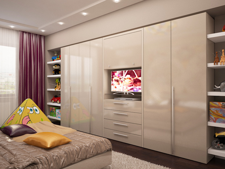 Комната бабушки у которой часто гостит любимый внук Спальня в эклектичном стиле от LD design Эклектичный
