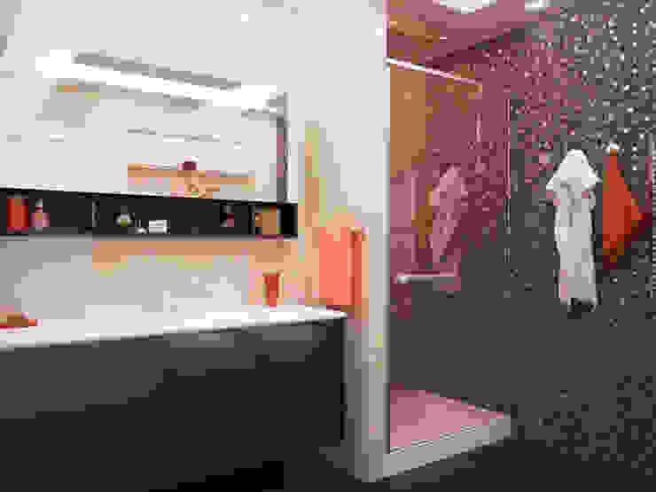 Проект квартиры в центре г. Владивостока Ванная комната в эклектичном стиле от LD design Эклектичный
