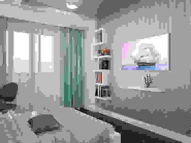 Проект квартиры в центре г. Владивостока Детские комната в эклектичном стиле от LD design Эклектичный