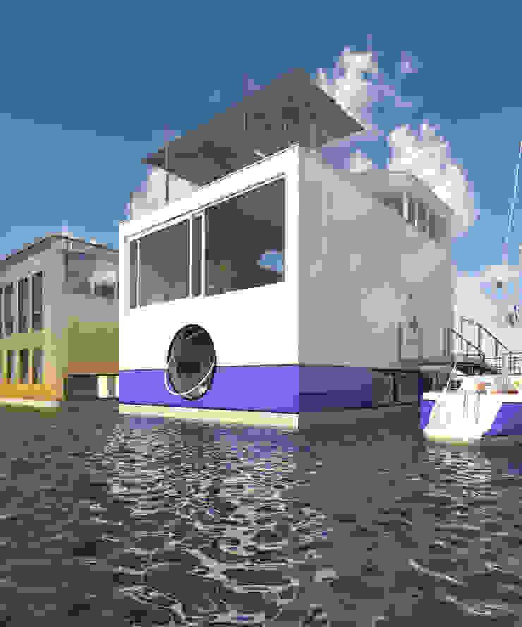 Jacht Moderne huizen van M&M Watervilla Modern