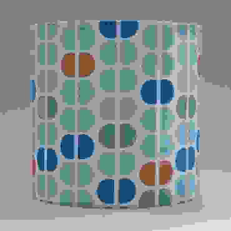 Handmade lampshade - Semicircles Pink - original textile design: scandinavian  by Anna Dent Studio, Scandinavian