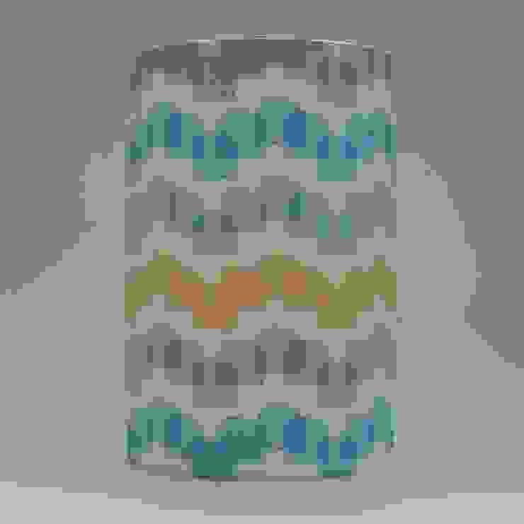 Handmade lampshade - Houses Mustard - original textile design: scandinavian  by Anna Dent Studio, Scandinavian