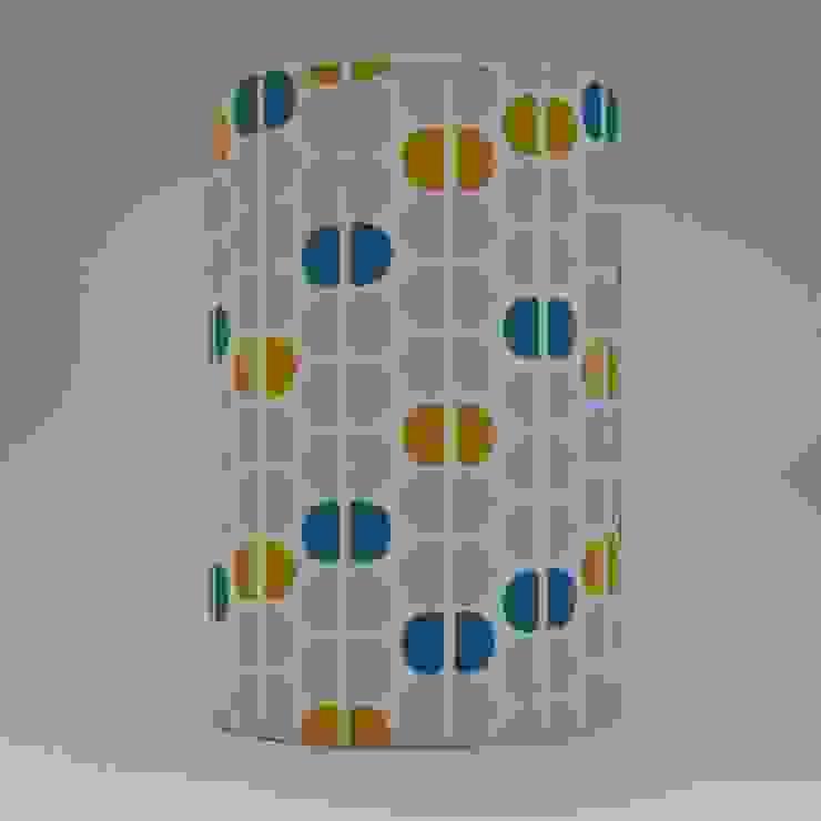 Handmade lampshade - Semicircles Mustard - original textile design: scandinavian  by Anna Dent Studio, Scandinavian