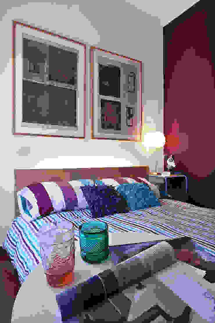 Apartamento Praia Santa Cruz Quartos ecléticos por Tiago Patricio Rodrigues, Arquitectura e Interiores Eclético