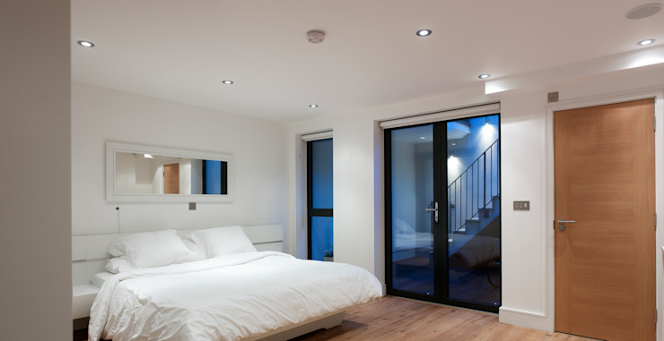 Hertford Road - bedroom Modern style bedroom by Syte Architects Modern
