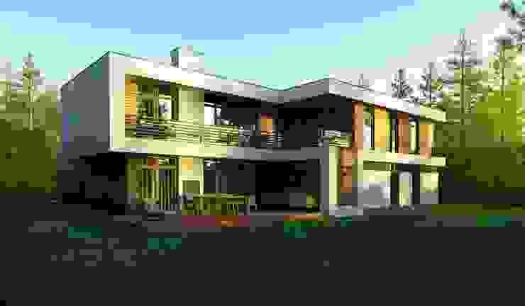 Проект современного частного дома в России: Дома в . Автор – Sboev3_Architect,