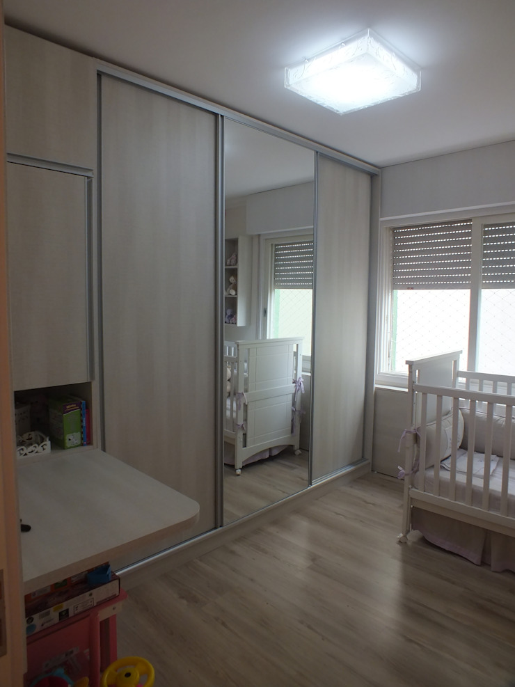 Dormitório filha Arketing Identidade e Ambiente Quarto infantil minimalista