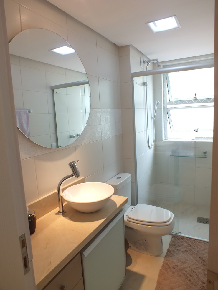 Banheiro social Arketing Identidade e Ambiente Banheiros clássicos