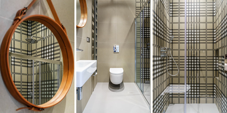 Anna Maria Sokołowska Architektura Wnętrz 現代浴室設計點子、靈感&圖片