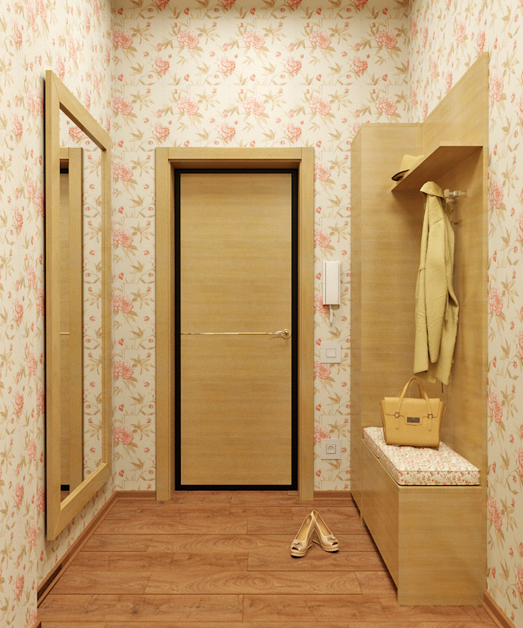 Романтический интерьер для семейной пары Коридор, прихожая и лестница в классическом стиле от Студия дизайна Interior Design IDEAS Классический