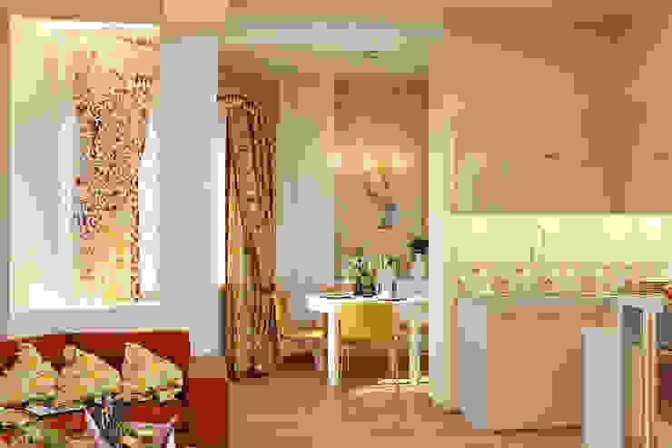 Романтический интерьер для семейной пары Столовая комната в классическом стиле от Студия дизайна Interior Design IDEAS Классический
