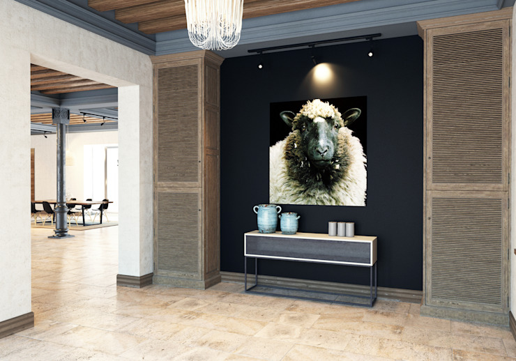 Pfayfer Fradina Design Scandinavian style corridor, hallway& stairs