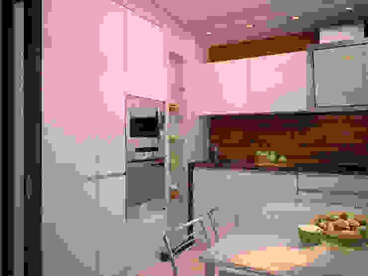 От дизайн проекта до готового объекта/3D визуализация Кухня в стиле минимализм от LD design Минимализм