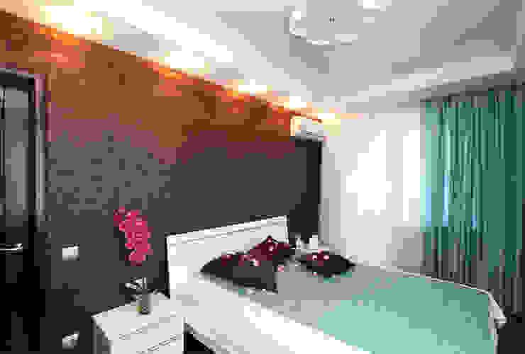 От дизайн проекта до готового объекта/фотография реализованного проекта Спальня в стиле минимализм от LD design Минимализм