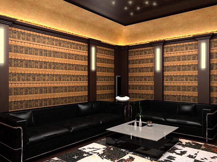 Кинотеатр Рабочий кабинет в стиле модерн от LD design Модерн