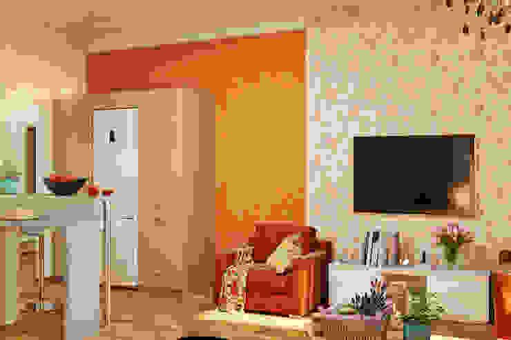 Романтический интерьер для семейной пары Гостиная в классическом стиле от Студия дизайна Interior Design IDEAS Классический