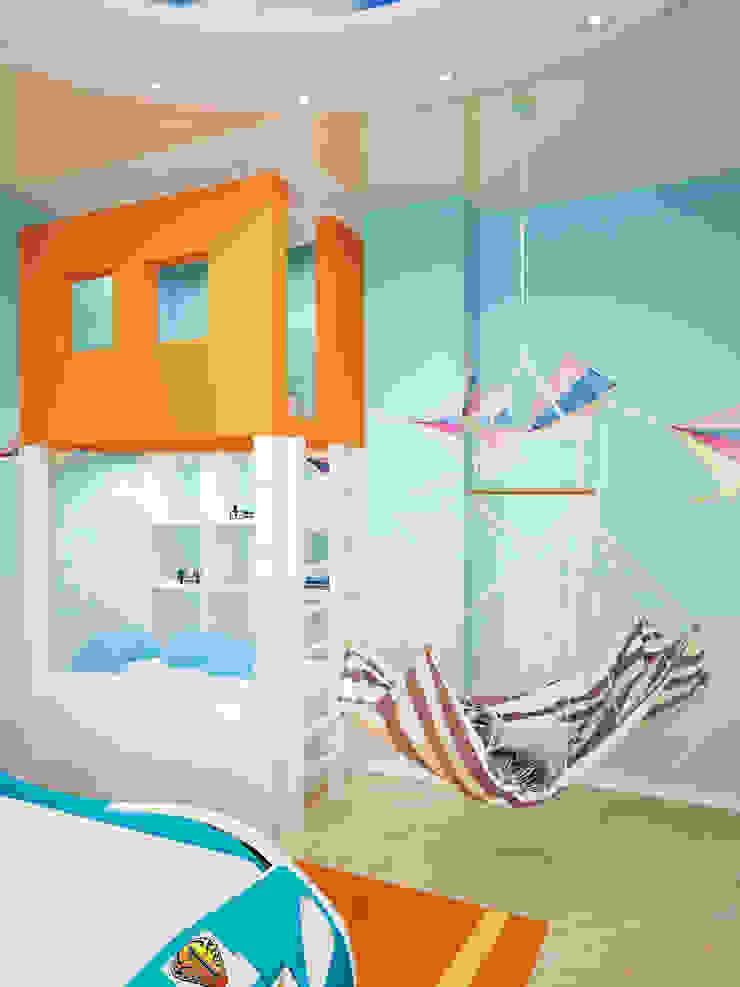 Дом Мастерская дизайна ЭГО Детская комната в стиле модерн