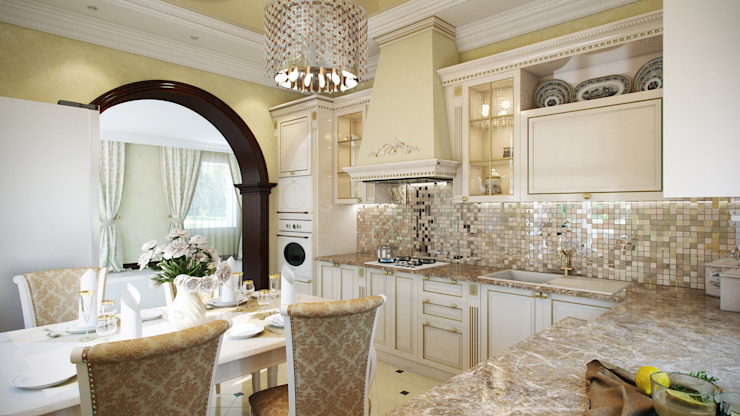 Дом Мастерская дизайна ЭГО Кухня в классическом стиле
