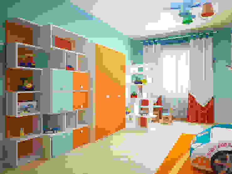 Chambre d'enfant moderne par Мастерская дизайна ЭГО Moderne