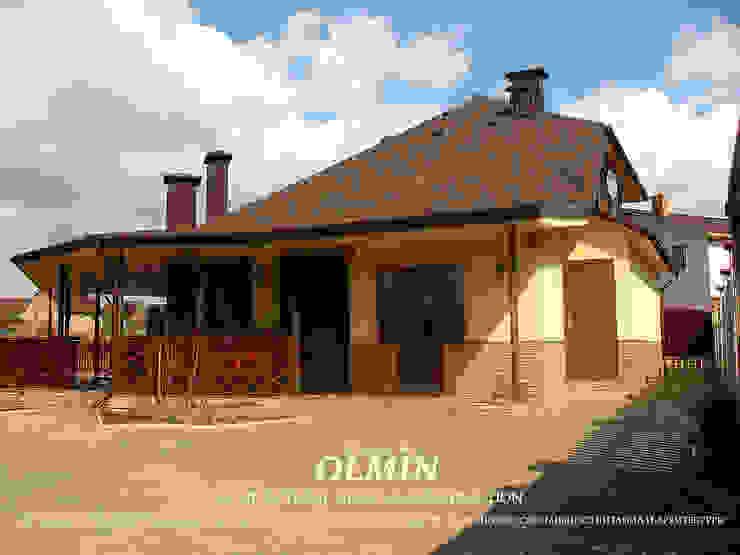 Кепка, она же Дом-Баня Дома в стиле модерн от ИП OLMIN - Архитектурная студия Олега Минакова Модерн