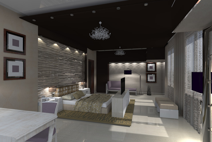 Modern style bedroom by Мастерская дизайна ЭГО Modern