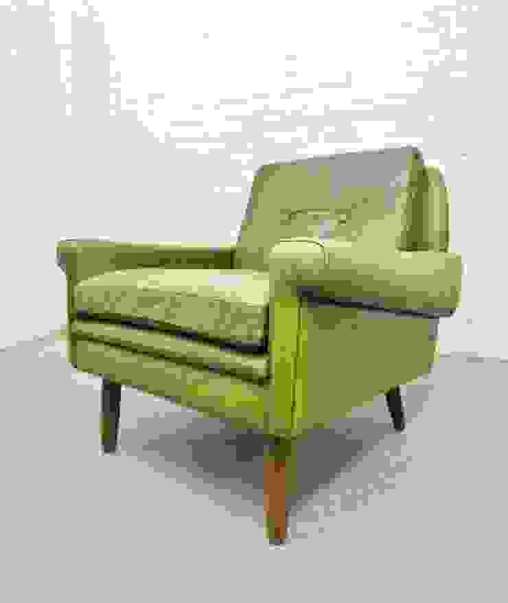 1960s green leather armchair : scandinavian  by Archive Furniture , Scandinavian