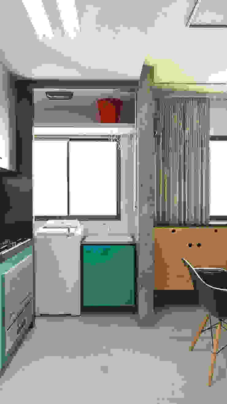 Apartamento IM Cozinhas industriais por 285 arquitetura e urbanismo Industrial