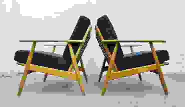 Pair of mid-century Danish beech lounge chairs : scandinavian  by Archive Furniture , Scandinavian