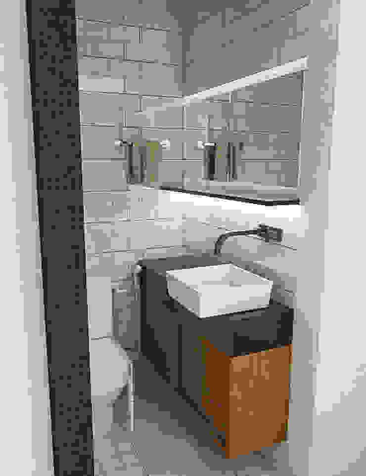 Apartamento IM Banheiros industriais por 285 arquitetura e urbanismo Industrial