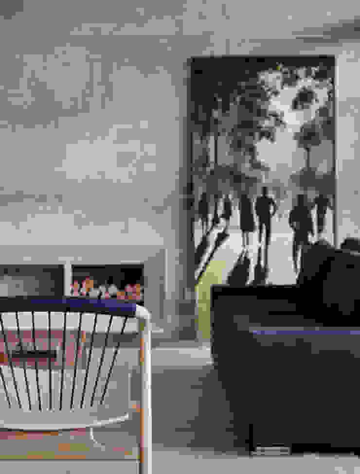 Salones de estilo minimalista de Skylab Arquitetos Minimalista Hormigón