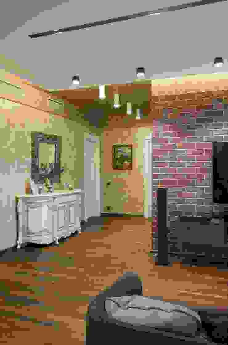 квартира с собачкой Гостиные в эклектичном стиле от Хандсвел Эклектичный