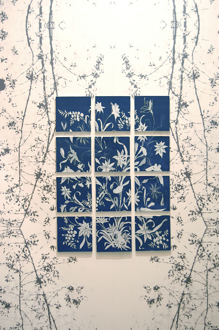 Hand made tiles & wall surface to match: asian  by Tactile Wonderland, Asian