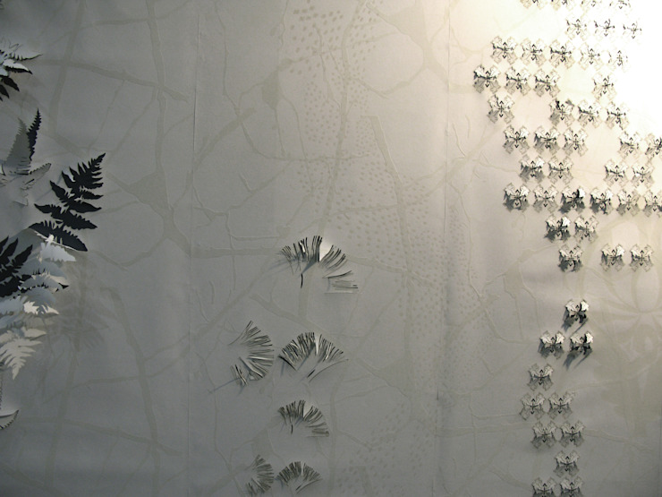 3D hand printed and textured white wall: modern  by Tactile Wonderland, Modern