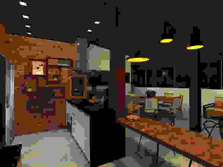Konverto Interiores + Arquitetura Balcones y terrazas rústicos
